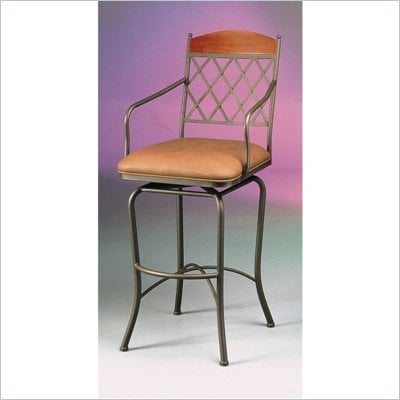 "Pastel Furniture Napa Ridge Bronze 26"" Swivel Arm Counter Stool in Shandora Toast"