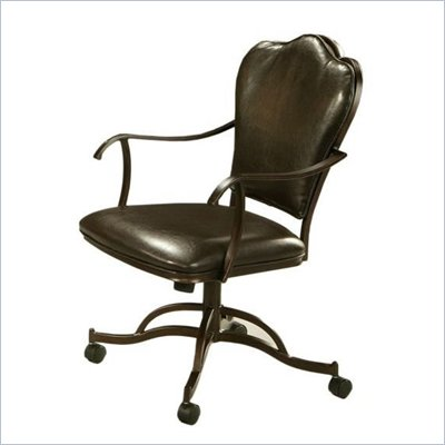 Pastel Furniture Oxford Stallion Brown Caster Chair in Roletta Brown
