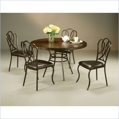 Pastel Furniture Oxford Round Hard Wood Dining Set in Roletta Brown