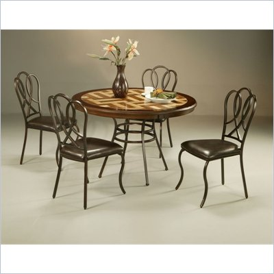 Pastel Furniture Oxford Travertine Dining Set in Roletta Brown