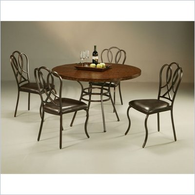 Pastel Furniture Oxford Copperstone Dining Set in Roletta Brown