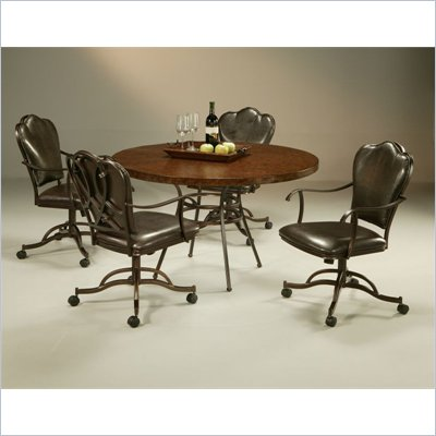 Pastel Furniture Oxford Copperstone Dining Caster Set in Roletta Brown
