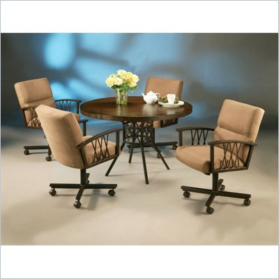 Pastel Furniture Ravenwood Caster Hard Wood  Dining Set