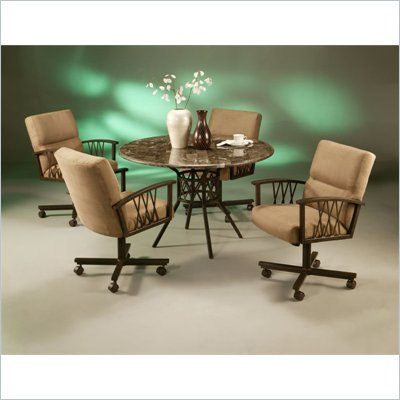 Pastel Furniture Ravenwood Caster Marble Dining Set