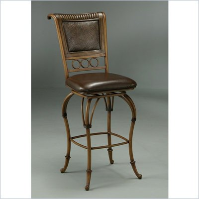 Pastel Furniture Rio Branco 26&quot; Counter Stool in Stallion Brown