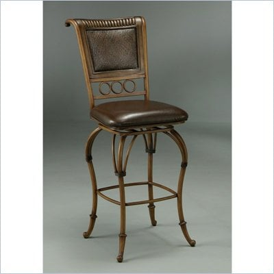 "Pastel Furniture Rio Branco 26"" Counter Stool in Stallion Brown"