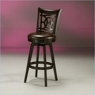 Pastel Furniture Royal Vista Espresso 30&quot; Swivel Bar Stool in Stallion Brown