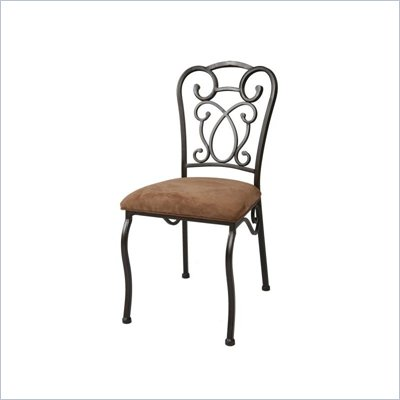 Pastel Furniture Vienna Topanga Brown Side Chair in Roletta Brown