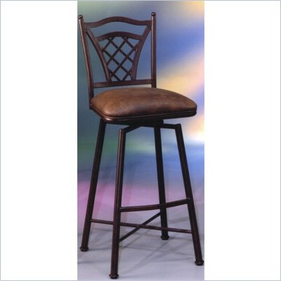 Pastel Furniture Waverly Rust 26&quot; Swivel Bar Stool in Florentine Coffee