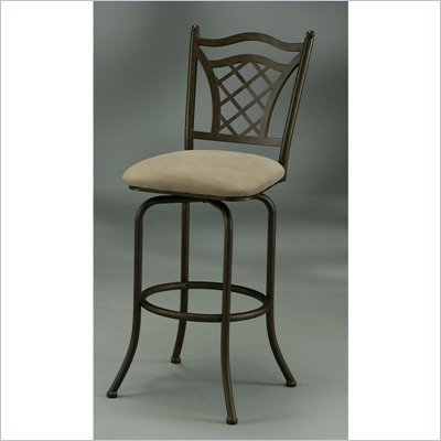 "Pastel Furniture Willow Bridge 30"" Swivel Bar Stool in Topanga Brown"