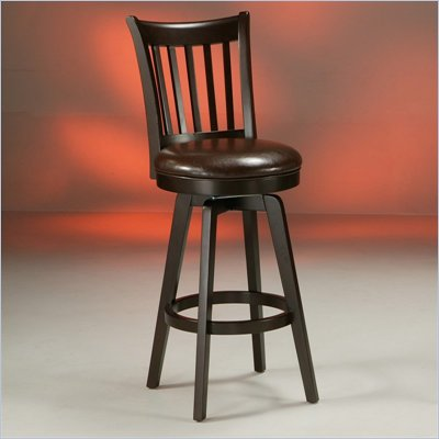 Pastel Furniture Woodhaven Espresso 30&quot; Swivel Bar Stool in Stallion Brown