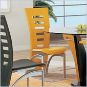 Global Furniture USA Neville Vinyl Dining Side Chair in Yellow
