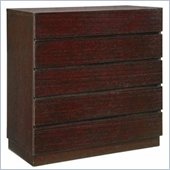 Global Furniture USA Soho 5 Drawer Chest in Wenge Finish