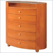 Global Furniture USA Emily 5 Drawer Chest in Cherry Finish