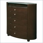 Global Furniture USA Emily 5 Drawer Chest in Wenge Finish