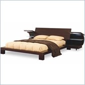 Global Furniture USA Soho Modern Wood Platform Bed 5 Piece Bedroom Set in Wenge