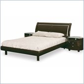 Global Furniture USA Emily Wood Sleigh Bed 5 Piece Bedroom Set in Wenge
