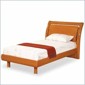 Global Furniture USA Emily Kids Contemporary Wood Sleigh Bed 3 Piece Bedroom Set in Cherry