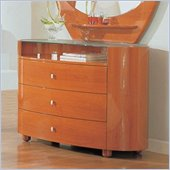 Global Furniture USA Emily Kids Single Dresser in Cherry