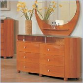 Global Furniture USA Emily 6 Drawer Double Dresser in Cherry