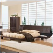 Global Furniture USA Soho Platform Bed with 2 Nightstands in Dark Wenge Finish
