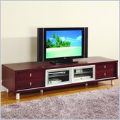 Global Furniture USA 84 Inch TV Cabinet in Mahogany