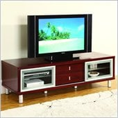 Global Furniture USA 64 Inch TV Cabinet in Mahogany
