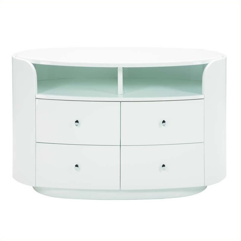 Emily Entertainment TV Stand in White