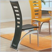 Global Furniture USA Neville Leather Dining Side Chair in Black