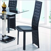Global Furniture USA Jord Tufted Dining Chair in Black