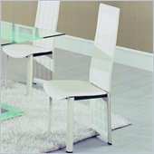 Global Furniture USA Jord Tufted Dining Chair in White