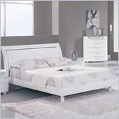 Global Furniture USA Emily Sleigh Bed in White