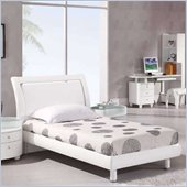 Global Furniture USA Emily Kids Twin Size Bed in White
