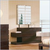 Global Furniture USA Soho Dresser and Mirror Set in Wenge