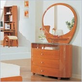 Global Furniture USA Emily Kids Dresser and Mirror Set in Cherry