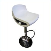 Global Furniture USA 207 Bar Stool in White
