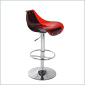 Global Furniture USA 250 Bar Stool in Red and Black