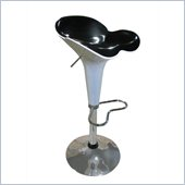 Global Furniture USA 250 Bar Stool in White and Black
