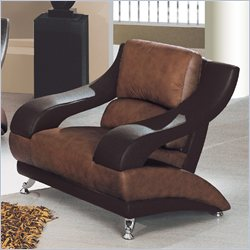 Global Furniture Leather Club Chair in Brown