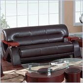 Global Furniture USA 2033 Sofa in Dark Brown