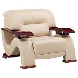 Global Furniture USA Leather Chair in Cappuccino