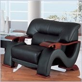 Global Furniture USA 2033 Chair in Black Leather Match