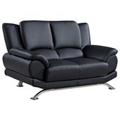 Global Furniture USA 9908 Love Seat in Black
