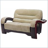 Global Furniture USA 992 Love Seat in Brown