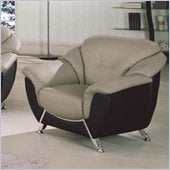 Global Furniture USA 6018 Chair in Gray and Black