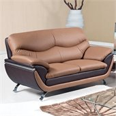 Global Furniture USA 2106 Love Seat in Light/Dark Brown