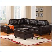 Global Furniture USA 5190 2 Piece Leather Sectional in Espresso