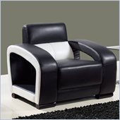Global Furniture USA A199 Ultra Bonded Leather Chair in Black/White