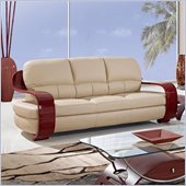 Global Furniture USA A230 Leather Match Sofa in Cappuccino