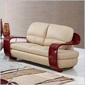Global Furniture USA A230 Leather Match Loveseat in Cappuccino